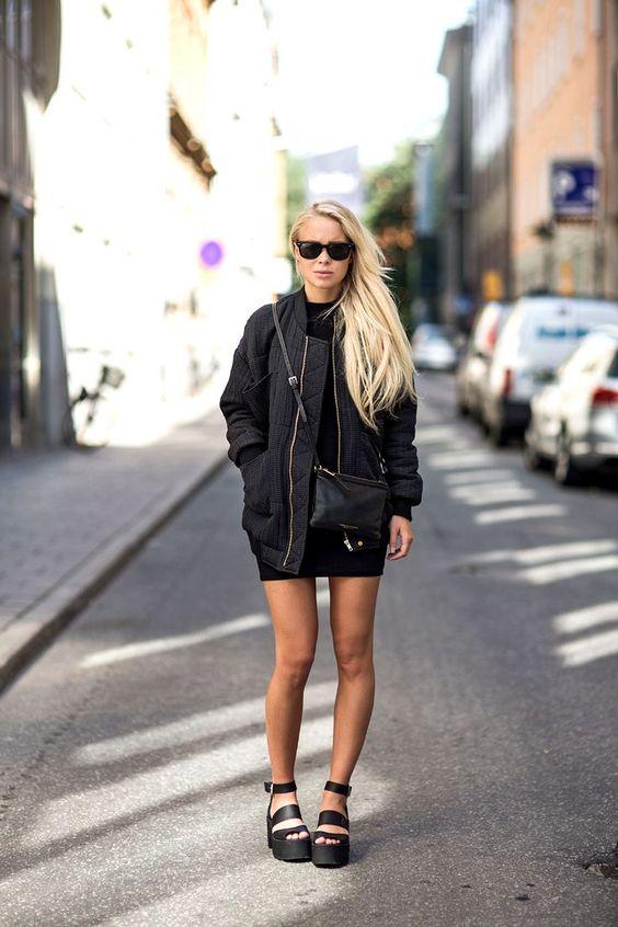 Vestido Curto e Flatform Blog Tatiana Leite